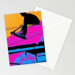 Tail Grabbing High Flying Scooter Stationery Cards