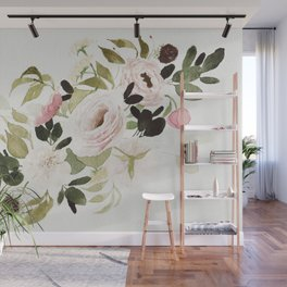 Romantic Loose Rose Bouquet Wall Mural
