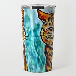"Louis Wain's Cats ""Winking Cats"" Travel Mug"