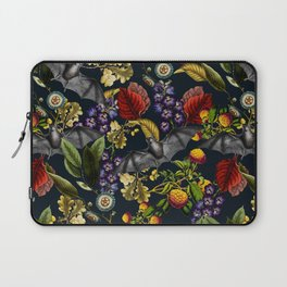 Flying Fox and Floral Pattern Laptop Sleeve