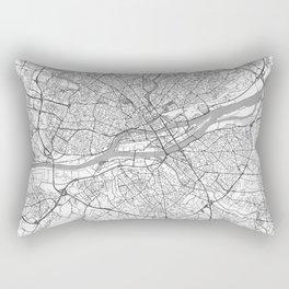 Nantes Map Line Rectangular Pillow