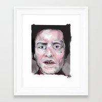 christopher walken Framed Art Prints featuring Christopher Walken by Be Sound Art