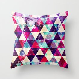 "Retro Geometrical Abstract Design ""Josephine"" inspired Throw Pillow"