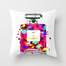 Eau de Parfum Bubbles Throw Pillow