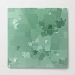 Grayed Jade Square Pixel Color Accent Metal Print