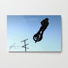 Biking High Metal Print