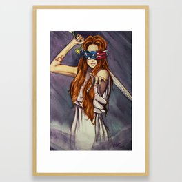 Themis (Lady Justice) Framed Art Print