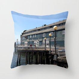Seattle Downtown Pier Throw Pillow