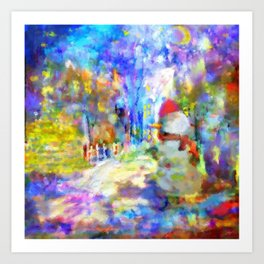 Be Happy in New 2016 Year ! Art Print