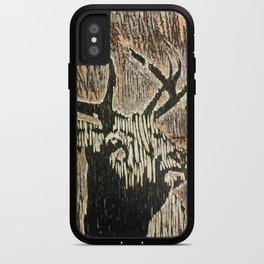 Woodcut Deer iPhone Case