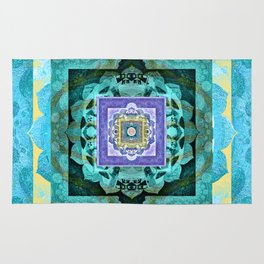 Soul Flow Color Therapy Sacred Geometry Meditation Print Rug