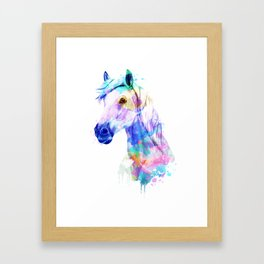 Horse Watercolor, Horse Print, Watercolor Print, Watercolor Animal, Horse Painting, Horse Gift Print Framed Art Print