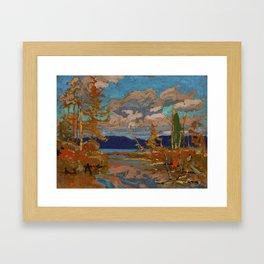 Tom Thomson The Lake, Bright Day 1916 Canadian Landscape Artist Framed Art Print