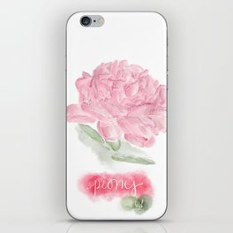 Botanical Brushstrokes ● Peony Pastel iPhone Skin