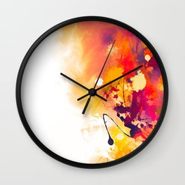 Abstract Autumn Gold Pattern Wall Clock