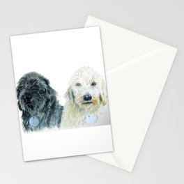 Labradoodle Pair Stationery Cards
