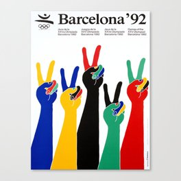 affiche barcelona 92 olympic games Canvas Print