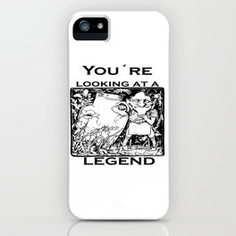 You're Looking At A Legend St Patricks Day Clurichaun iPhone Case