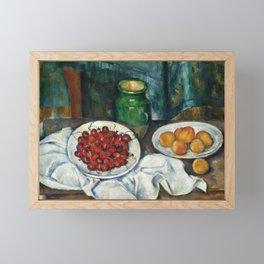 "Paul Cezanne ""Still Life with Cherries and Peaches"" Framed Mini Art Print"
