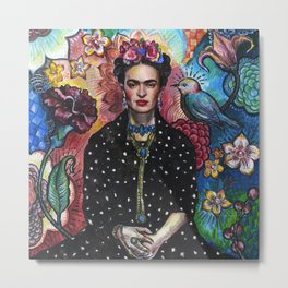 Frida Kahlo Portrait (4) Metal Print