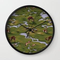 Vicuñas and Flamingoes Wall Clock