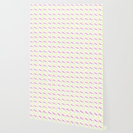 Rad 90's decor neon cartoon scribbles Wallpaper