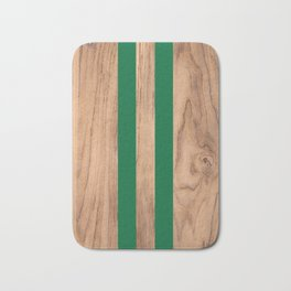Wood Grain Stripes Green #319 Bath Mat