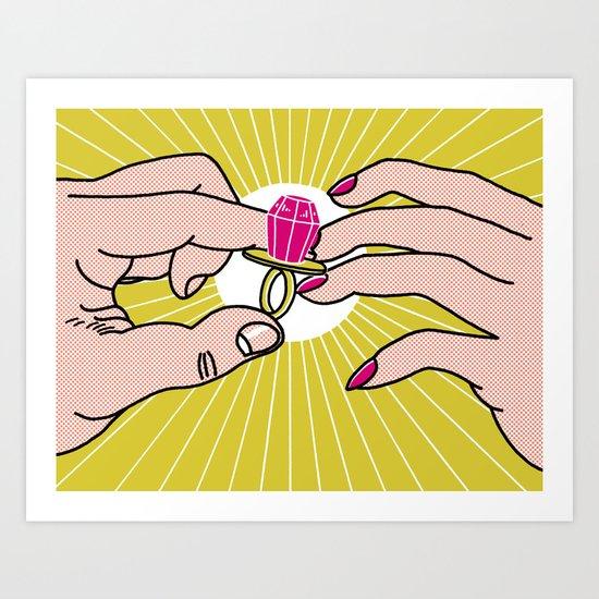 Bling Bling Baby! Art Print