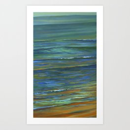 Sand to Wave Art Print