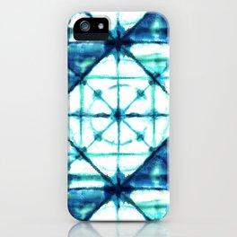 Shibori in Ocean Blues iPhone Case