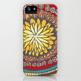 flower fun, doodles for you, custom flower pattern, iPhone Case