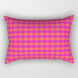 Jazzy Checks in Orange, Pink and Purple Rectangular Pillow