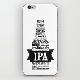 A beer is worth a thousand words - IPA iPhone Skin