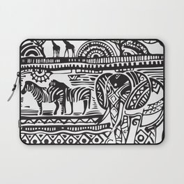 African Tribal Pattern No. 17 Laptop Sleeve