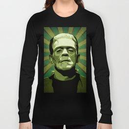 Frankenstein - Pop Art Long Sleeve T-shirt