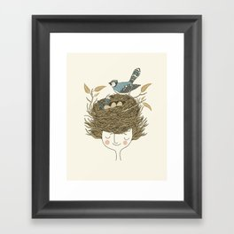 Bird Hair Day Framed Art Print