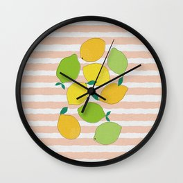 Citrus Crowd Wall Clock