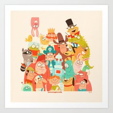 Storybook Gang Art Print