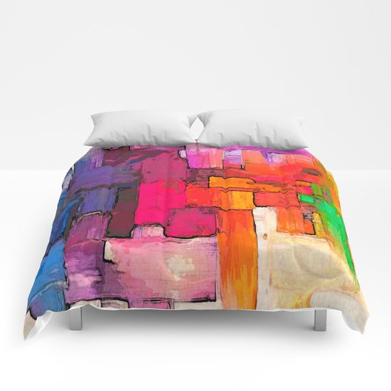 Color Interlace  Comforters