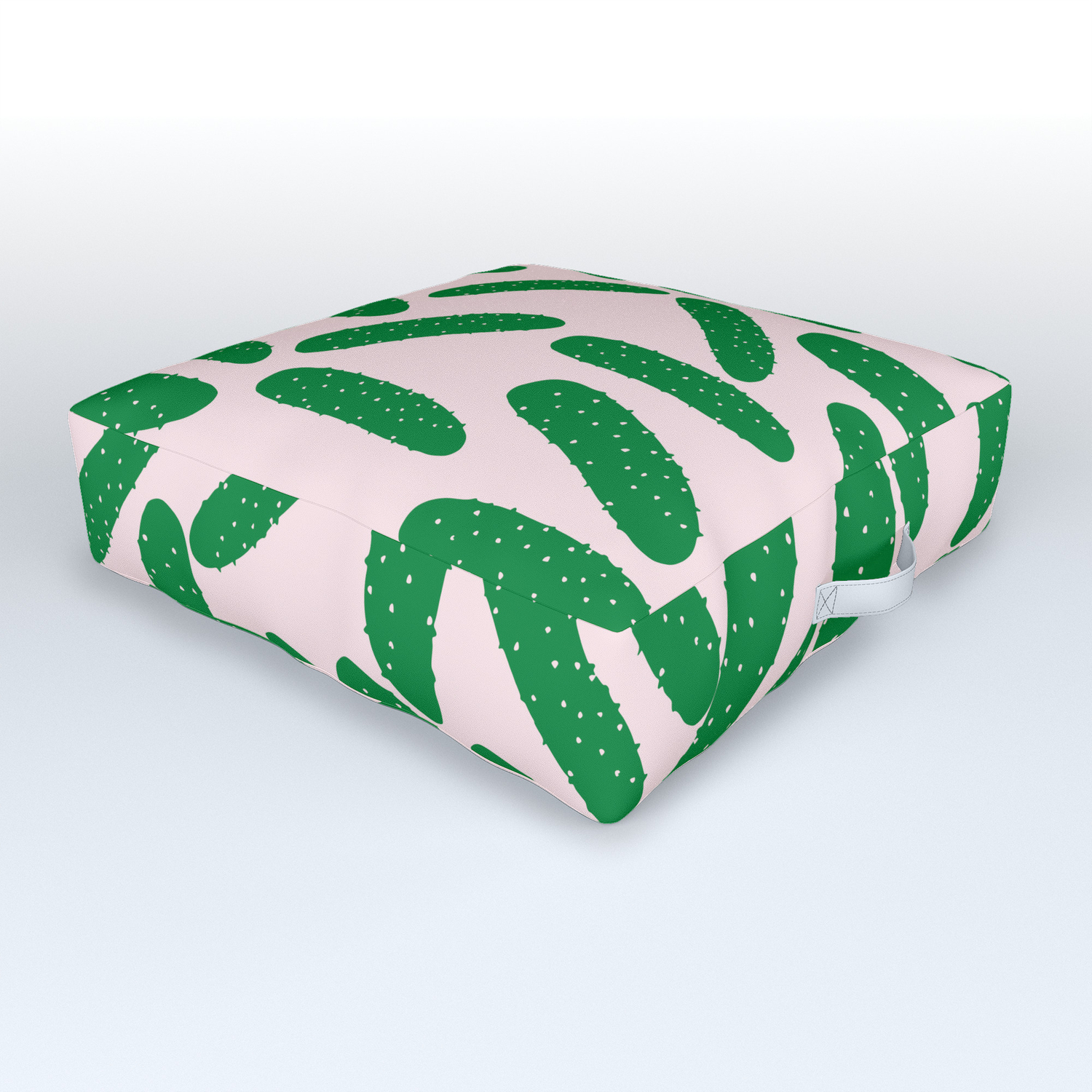 Cute Pickles Outdoor Floor Cushion By