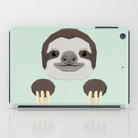 sloth iPad Cases featuring Sloth by Aaron Keshen