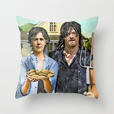 Greetings from Carol's Throw Pillow