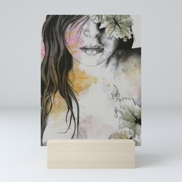 One Second II (autumn nude goddess erotic portrait) Mini Art Print