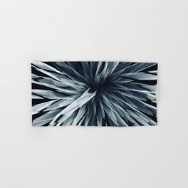 Perspective Facets-Retro Blue Hand & Bath Towel