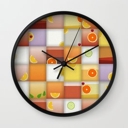 cocktail squares Wall Clock
