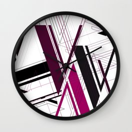 "Abstract Typography: Art Deco ""V"" Wall Clock"
