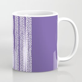 Cable Stripe Violet Coffee Mug