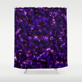 Marble Electrons Shower Curtain