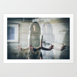 RANT - Double Exposure Art Print