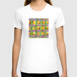 Light behind colorful geometric Windows T-shirt